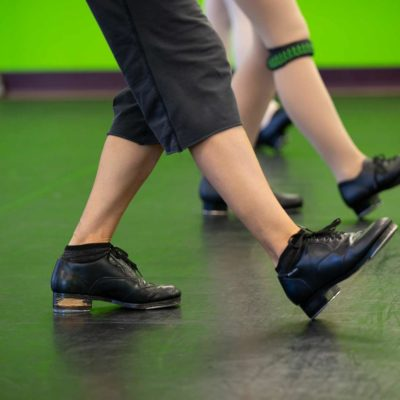 Dancer's shoes learning hip-hop dance